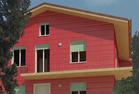 Ristrutturazione di un edificio residenziale sito nel centro storico del comune di Cavaion (VR)